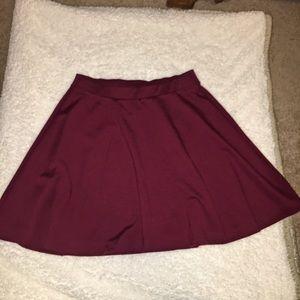 Old Navy Women's Dark Red Skater Skirt - Size M